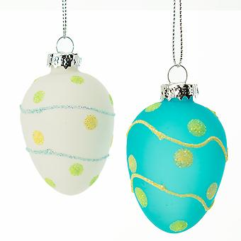 Hand Painted Glitter Dot Bauble for Easter Trees | Easter Trees & Ornaments