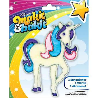 Makit & Bakit Suncatcher Kit-Glitter Unicorn TB-47648