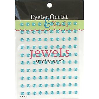 Bling Self Adhesive Jewels 5Mm 100 Pkg Turquoise Eob6 Tur