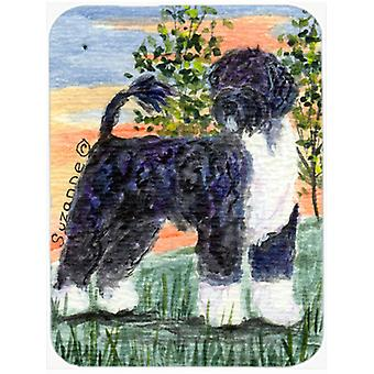 Portuguese Water Dog Glass Cutting Board Large