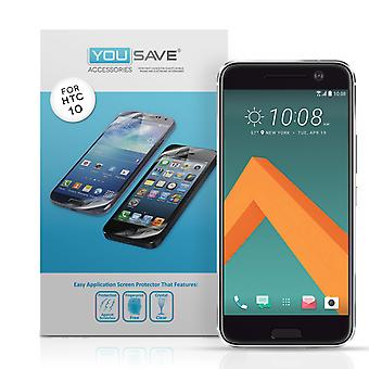 Yousave Accessories HTC 10 Screen Protectors x5