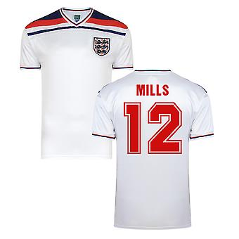Score Draw England World Cup 1982 Home Shirt (Mills 12)