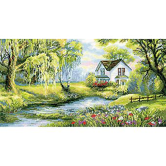 Corner Of Paradise Counted Cross Stitch Kit-16