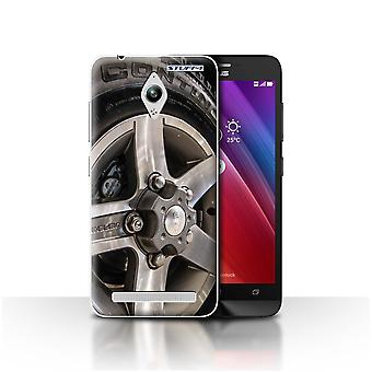 STUFF4 Case/Cover for Asus Zenfone Go ZC500TG/Grey/Silver/Alloy Wheels