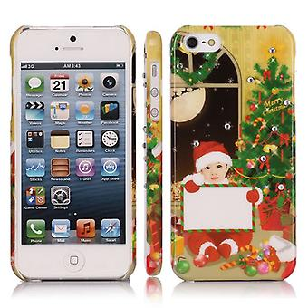 Christmas cover with boy with postcard for iPhone 5