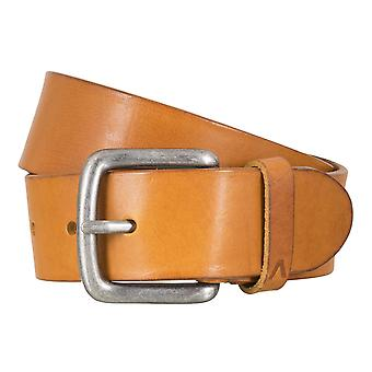 ALBERTO basic belt mens belt leather belt beige 4770