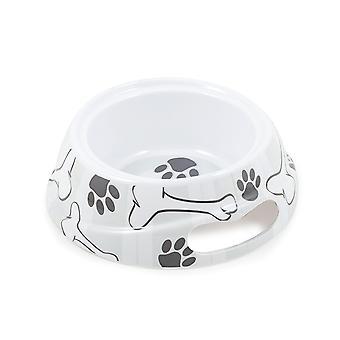 Melamine Dog Dish Grey Stripe Small 500ml (Pack of 6)