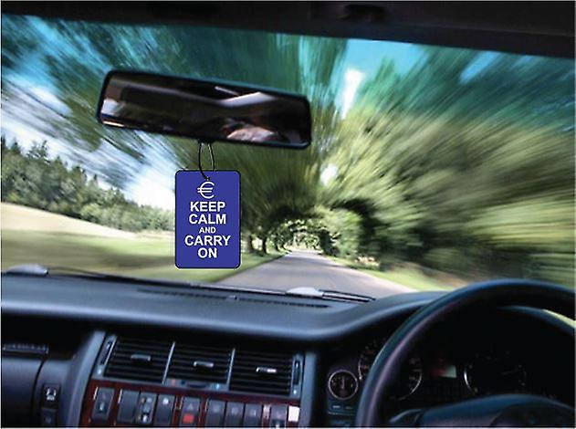 Euro Keep Calm And Carry On Car Air Freshener