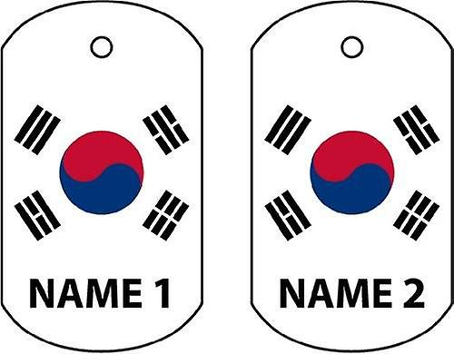 Personalised South Korea Dog Tag Car Air Freshener