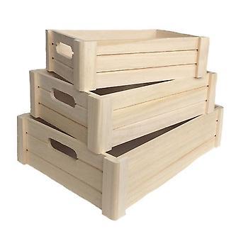 Conjunto de caixa de madeira de 3