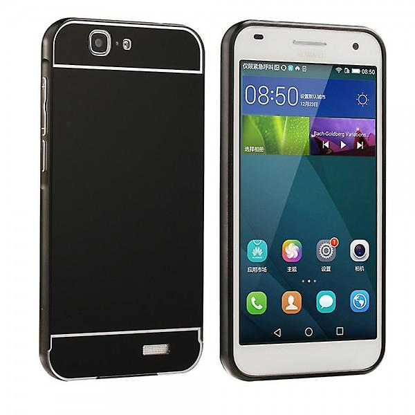 Aluminium bumper 2 pieces with cover black for Huawei Ascend G7