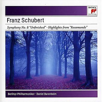 Daniel Barenboim - Schubert: Symfonier nr. 3 & No. 8 [CD] USA import