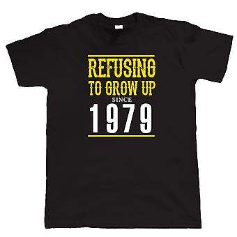 Refusing To Grow Up Since 1979 Mens Funny T Shirt