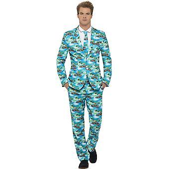 Hawaii suit Aloha suit slimline men's 3-piece premium