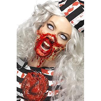 Flüssiglatex Schmink Set Zombie Dead 4 Farben mit Spachtel rot schwarz weiss beige