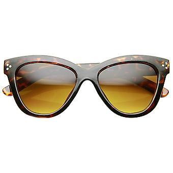 Womens Fashion Oversized ovale Bold Rim Butterfly Cat Eye zonnebril