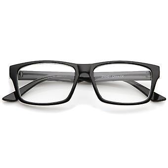 Nowoczesne róg oprawkach okularów prostokąt jasny obiektyw 52mm