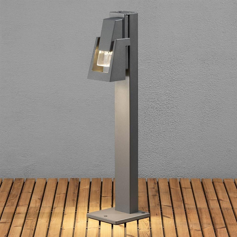Konstsmide Potenza gris Oil Lantern Style Garden Post Light