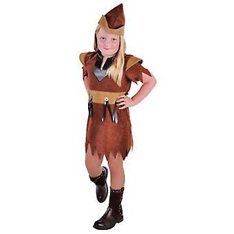 Børns kostumer Robin af skoven pige Brown