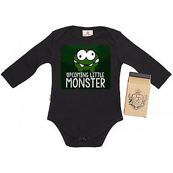 Spoilt Rotten Upcoming Little Monster Baby Grow 100% Organic In Milk Carton