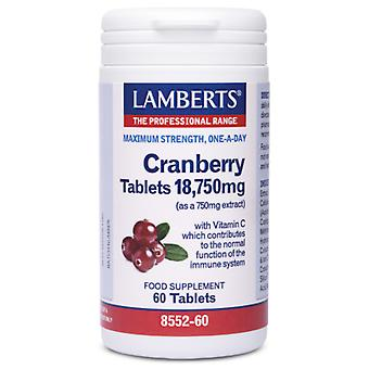 Lamberts Cranberry Tablets 18,750 mg (Vitamins & supplements , Multinutrients)