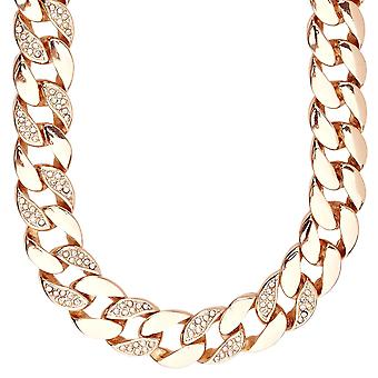 Iced out hip hop bling BOLD CUBAN curb chain - 15 mm rose