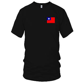 Taiwan Land Nationalflagge - Stickerei Logo - 100 % Baumwolle T-Shirt Kinder T Shirt