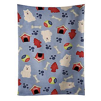 كنوز كارولين BB2643KTWL بيت الكلب جمع منشفة المطبخ سميد