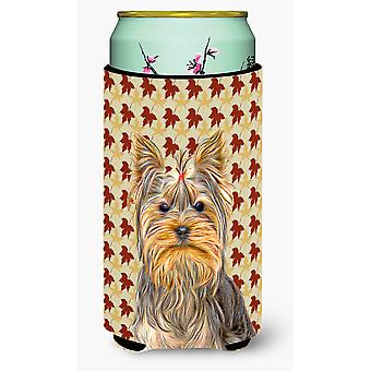 Fall Leaves Yorkie / Yorkshire Terrier Tall Boy Beverage Insulator Hugger