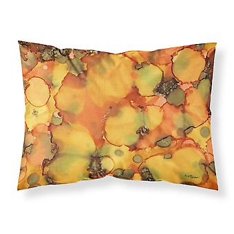Abstract in Orange and Greens Fabric Standard Pillowcase