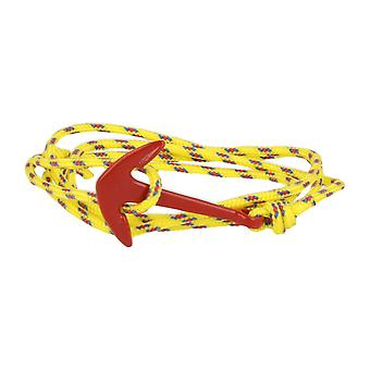 Vikings red-line anchor bracelet with nylon yellow anchor in red