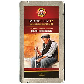 Mondeluz Aquarell Watercolor Pencils 12 Pkg Fa372212