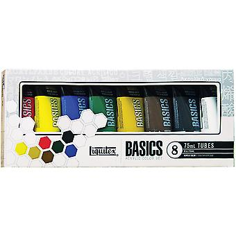 Liquitex Basics Acrylic Paint 75Ml Tube 8 Pkg Assorted Colors 101008