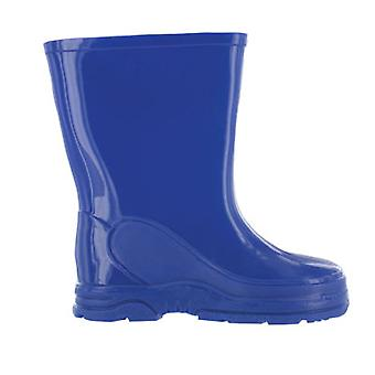 Boys Blue Basic Wellies Wellington Rubber Boots UK Child 4 - 13
