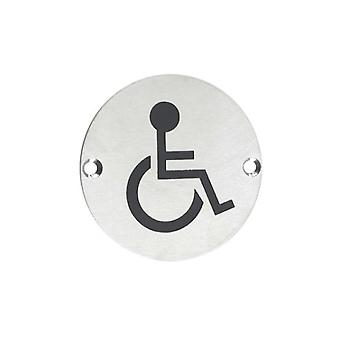 Zoo Disabled Facilities Symbol - Satin Stainless - ZSS07SS