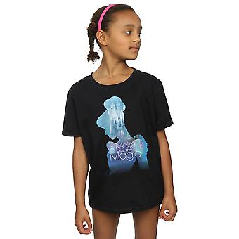 Disney Girls Princesses Cinderella Filled Silhouette T-Shirt