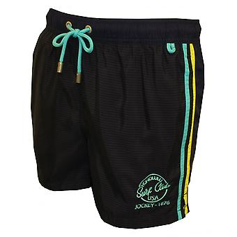 Jockey Surf Club Side Stripe Swim Shorts, Navy