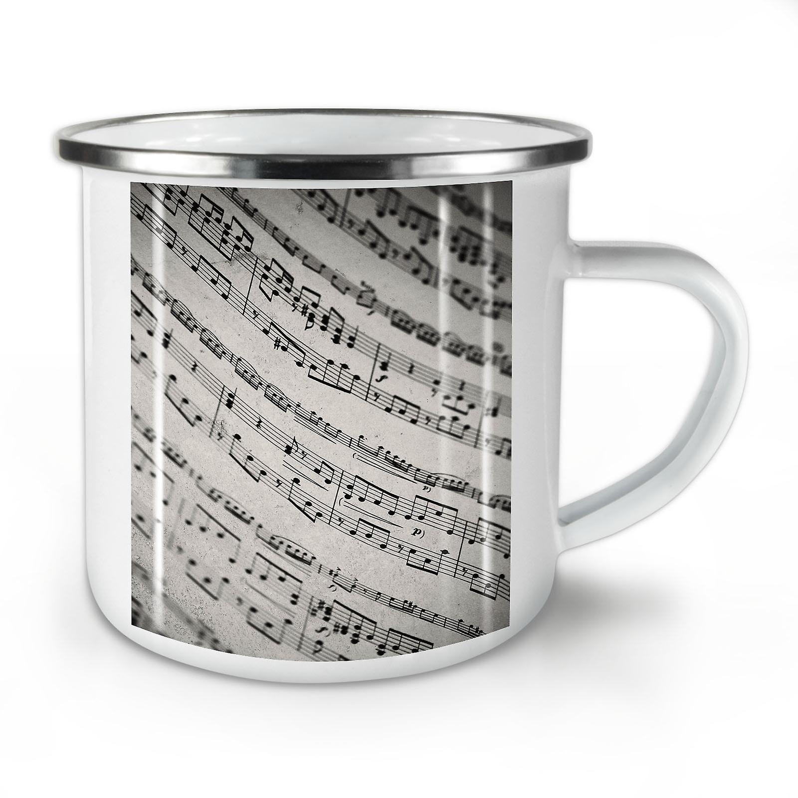 Whitetea Piano Note Mug10 Vintage Nouvelle OzWellcoda De Café Émail Rc4qAj35L