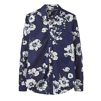 Joules Lucie Classic Fit Shirt French Navy Posy