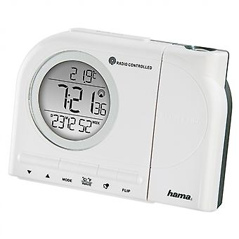 HAMA Alarm Clock Projects Time Radio Controlled Clock White