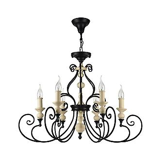 Maytoni Lighting Karina House Collection Chandelier, Black