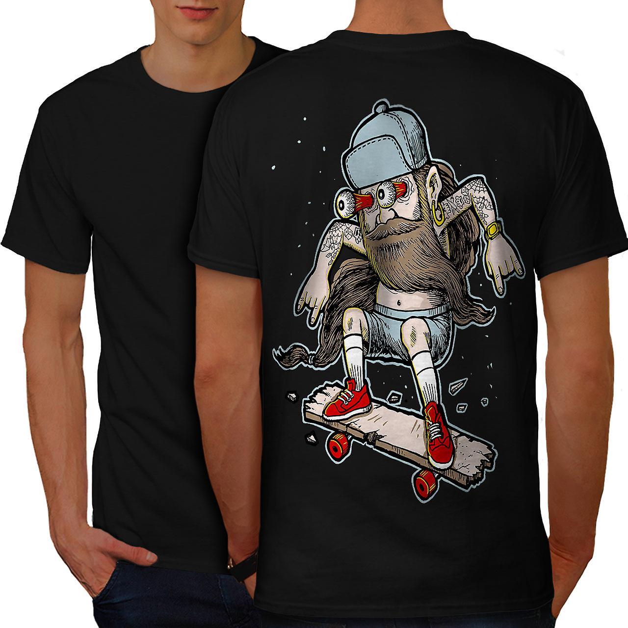 Majestätische Bart Skater Männer BlackT-Shirt zurück | Wellcoda