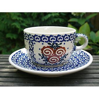 Filiżanka ze spodkiem - ceramiczne naczynia - tradycja 69 - Kawa i herbata - BSN 62400