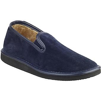 Mirak Mens Barton Slip-On Suede Lined Loafer Style Slipper Navy
