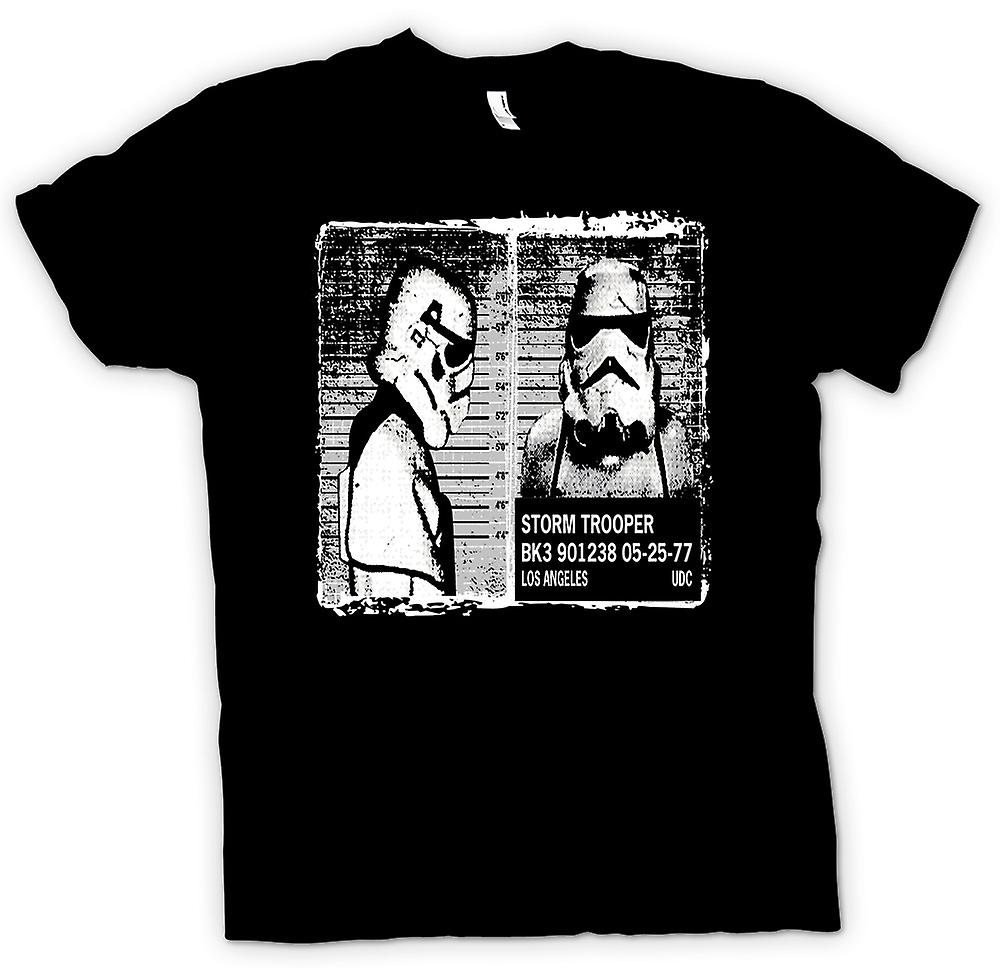 Mens t-skjorte - Storm Trooper Mug Shot - Funny