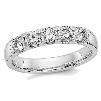 14K White Gold Synthetic Moissanite Anniversary Wedding Band  Ring 1.10 Carat (ctw) (1.15 Ct. Look)