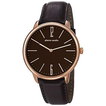 Pierre Cardin mens watch wristwatch LA GLOIRE leather PC106991F05
