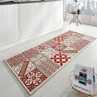 Design kitchen Windrunner flat fabric accent tiles look beige red 80 x 200 cm