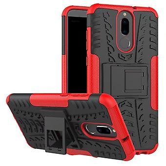 Hybrid Case 2teilig Outdoor Rot für Huawei Mate 10 Lite Tasche Hülle Cover Schutz