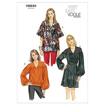 Misses' Top, Tunic And Belt-XSM (4-6) SML (8-10) MED (12-14) -*SEWING PATTERN*